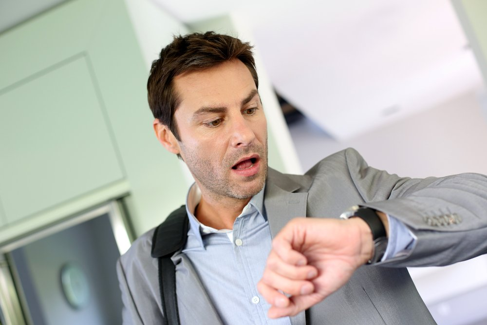 Man worried about time