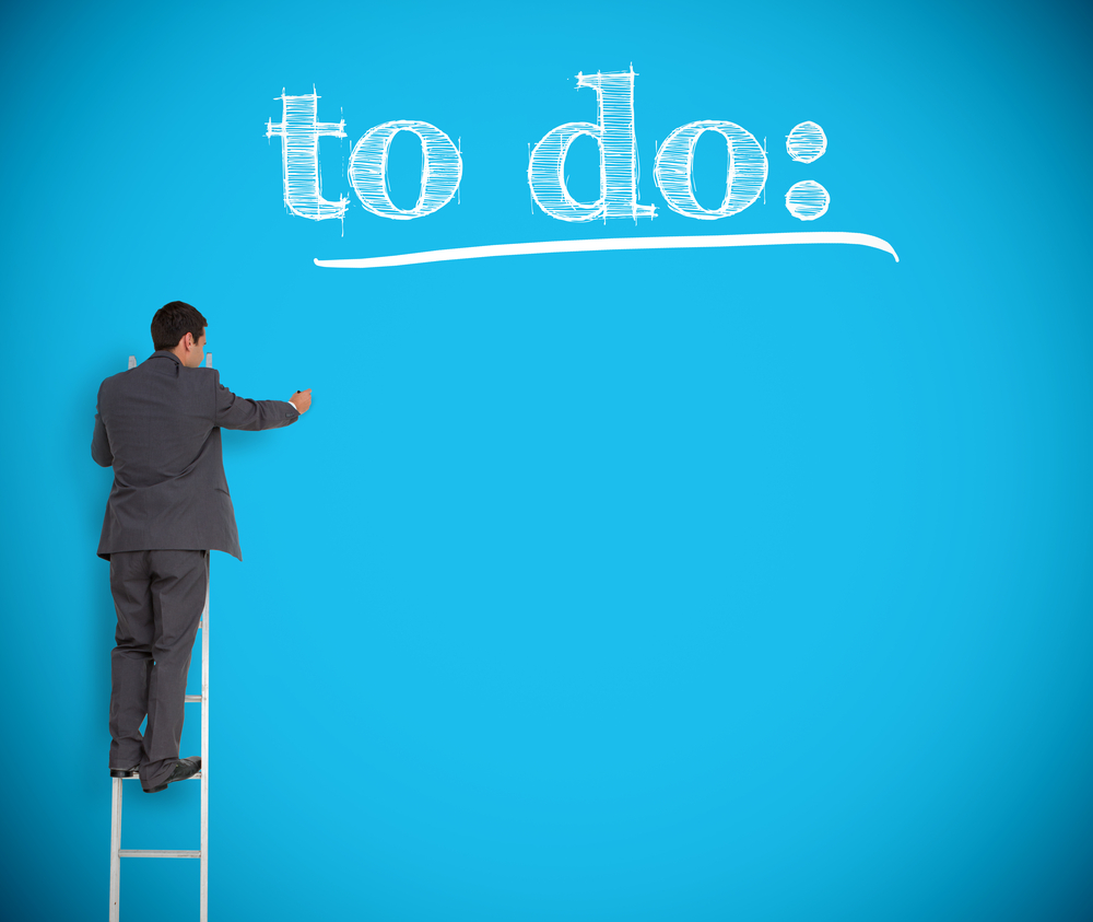 Man making a to-do list